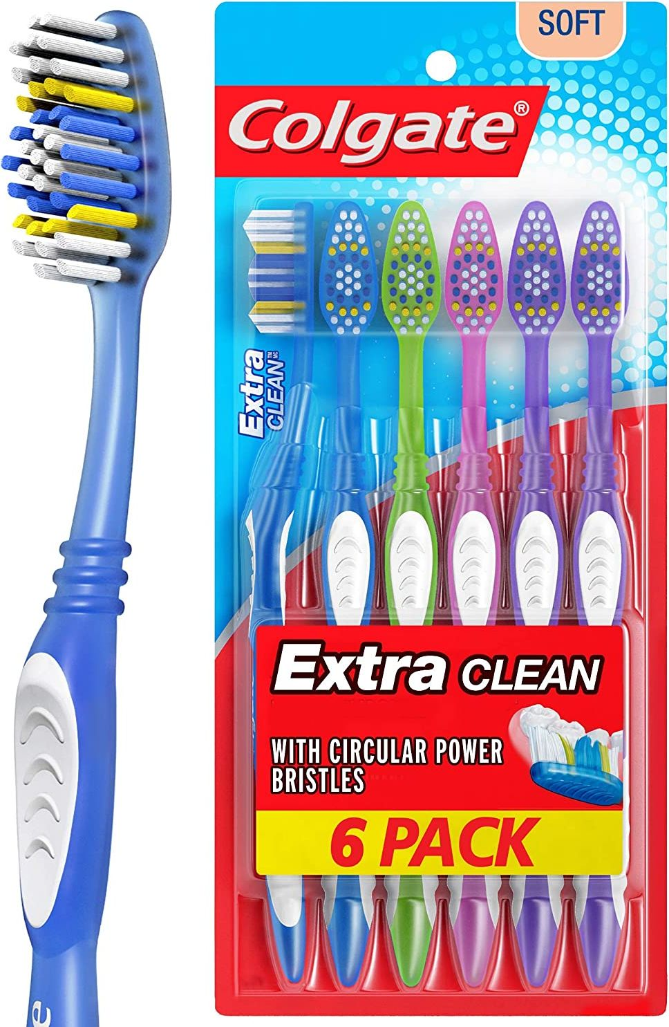 Colgate Extra Clean Toothbrush 6-Pack $2.60 at Amazon